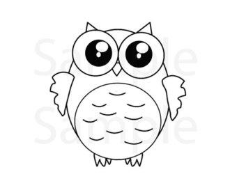 Drawn owlet kawaii Pages Owl coloring digital Etsy