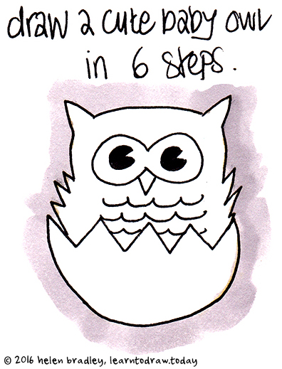 Drawn owlet kawaii Baby Learn 7 Drawings 6