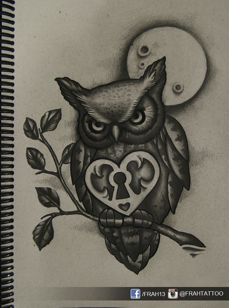 Drawn owl moon 2 on by Pinterest on