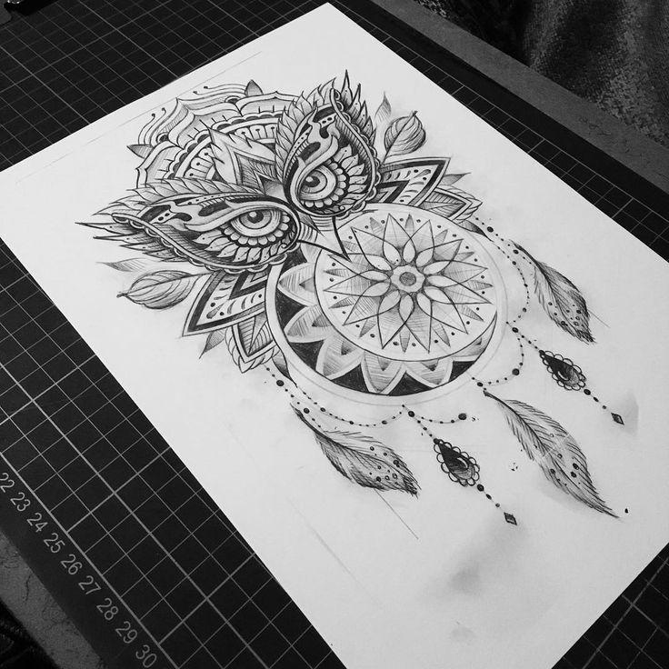 Drawn owl moon Pinterest ideas tomoz best #tattoo