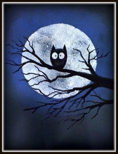 Drawn owl moon Around blue 1 STUDIO 223×1