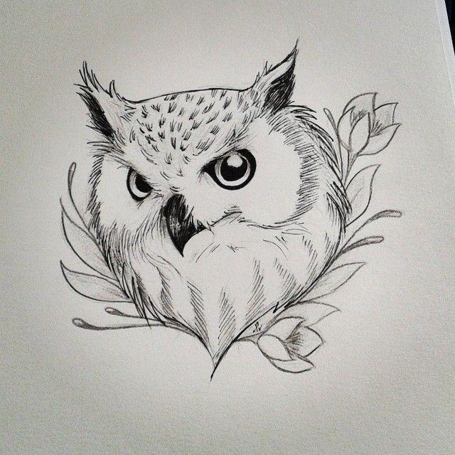 Drawn owl nature #3