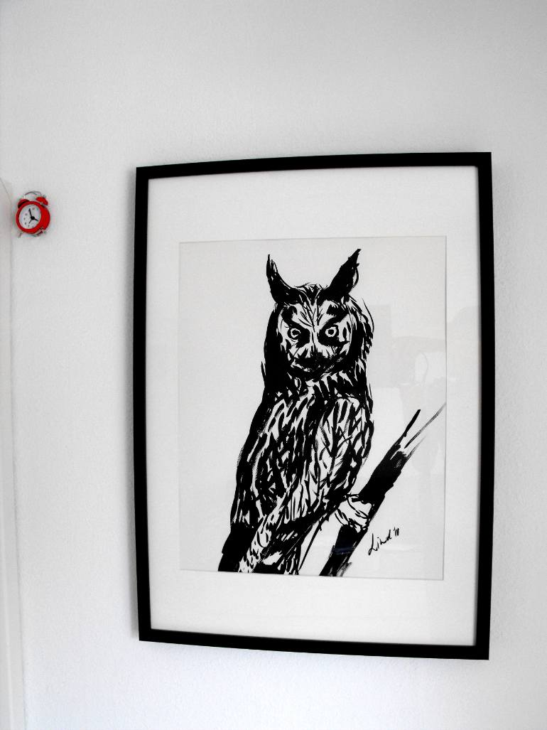 "Drawn owl owel The Linda Saatchi ""The owel"