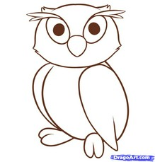 Drawn owl owel Images Kids Easy kids Drawings