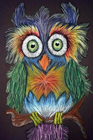 Drawn owl pastel From Oil 25+ on (Art