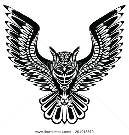 Drawn owl pattern #5