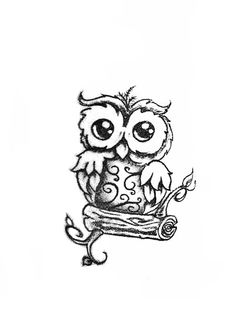 Drawn owl pattern #12