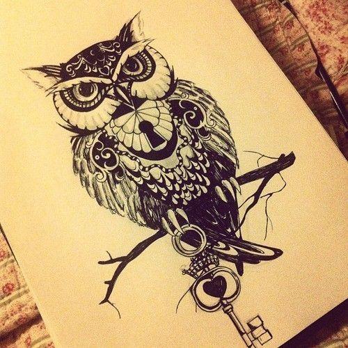 Drawn owl school #7
