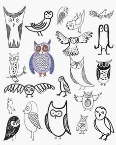 Drawn owl school #11