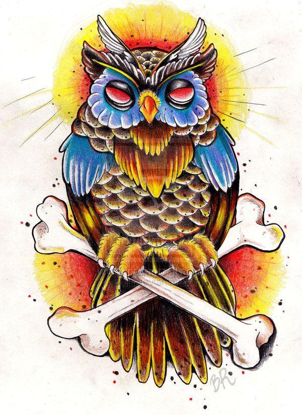 Drawn owl school #1