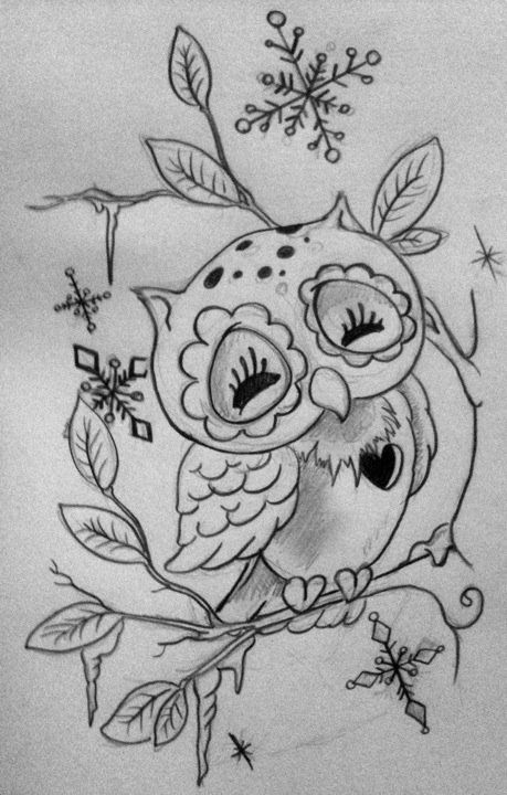 Drawn owl school #4