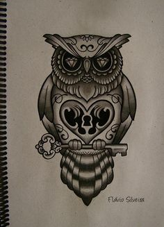 Drawn owl school #8