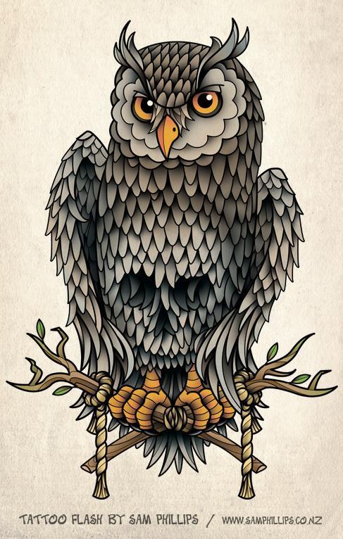 Drawn owl school #12