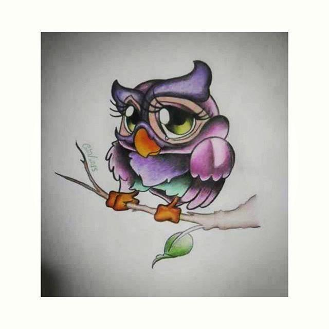 Drawn owl school #3