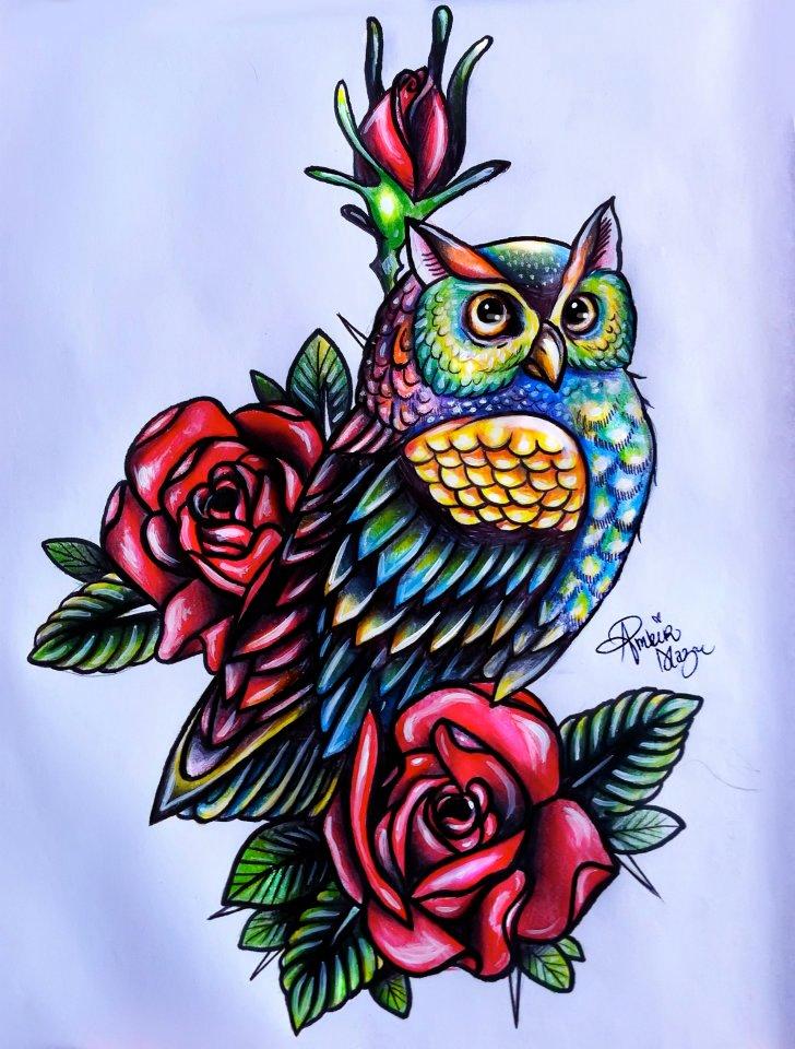 Drawn owl school #5