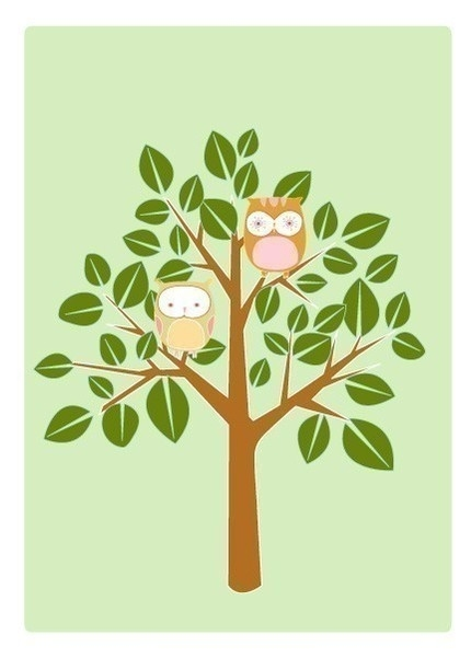 Drawn owl tree drawing A a How photo#8 tree