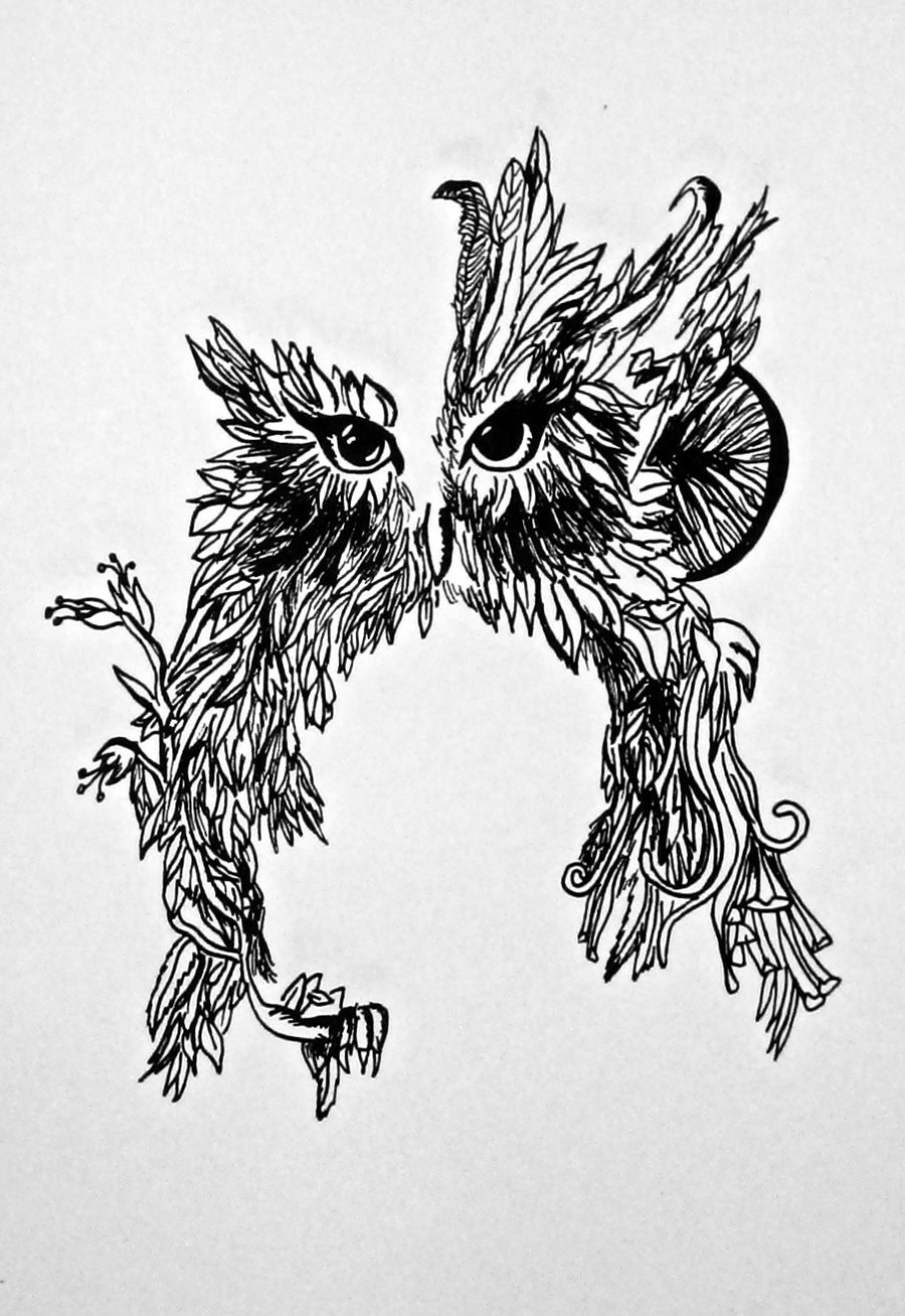 Drawn owl tree drawing A a How photo#16 tree