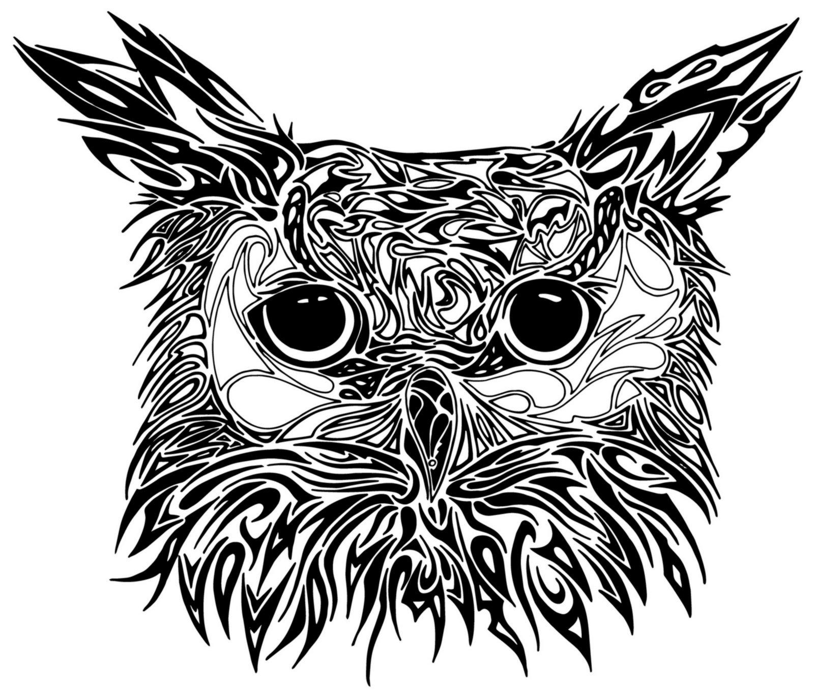 Drawn owl tribal #10