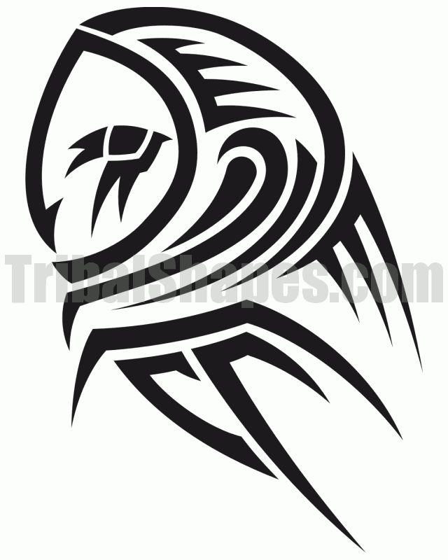 Drawn owl tribal #14