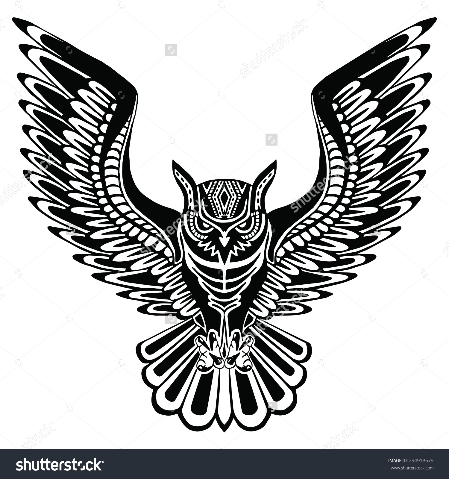 Drawn owl tribal #11