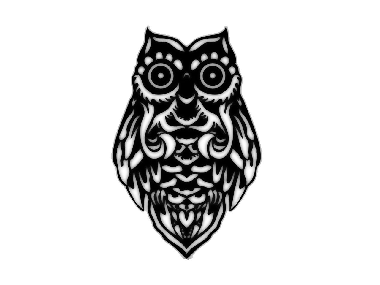 Drawn owl tribal #15