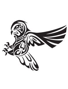 Drawn owl tribal #12