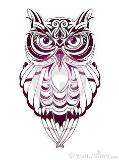 Drawn owl tribal #8