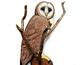Drawn owl wood Owl Owl sculpture art OWL