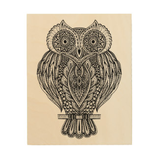 Drawn owl wood Zazzle Hand Wood Drawn Drawn