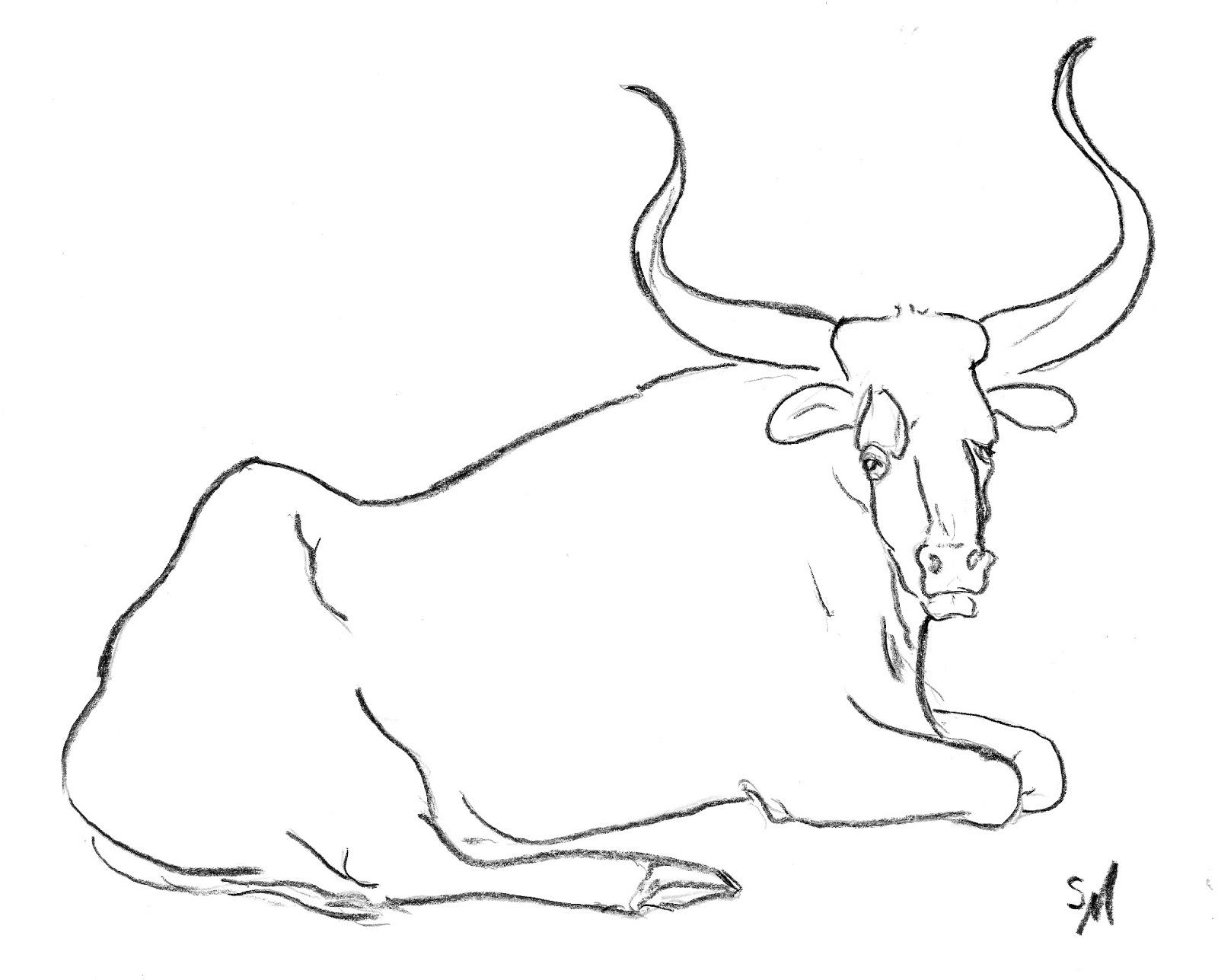 Drawn ox Realistic Ox Image Ox Drawing