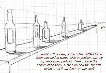 Drawn river perspective Perspective Drawing Drawing Easy! Bottles