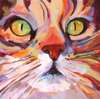 Drawn painting cat #12