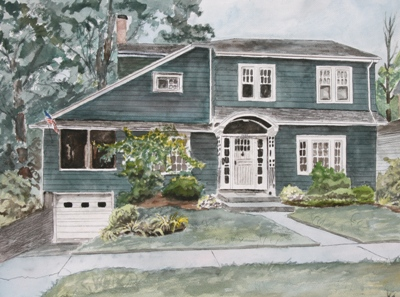 Drawn painting house A commission drawings have painting