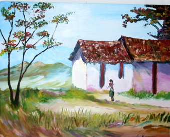 Drawn painting house Work others Common done they
