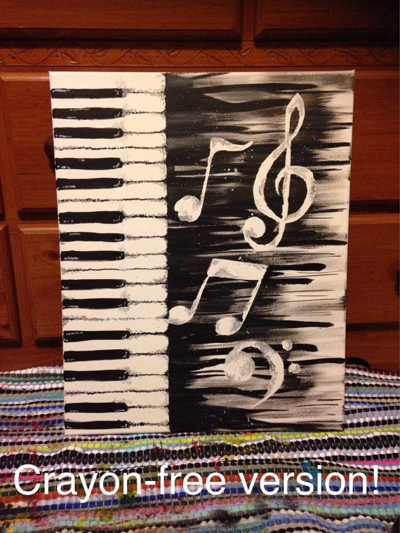 Drawn painting keyboard TIME*** Music CRAYON Best ideas