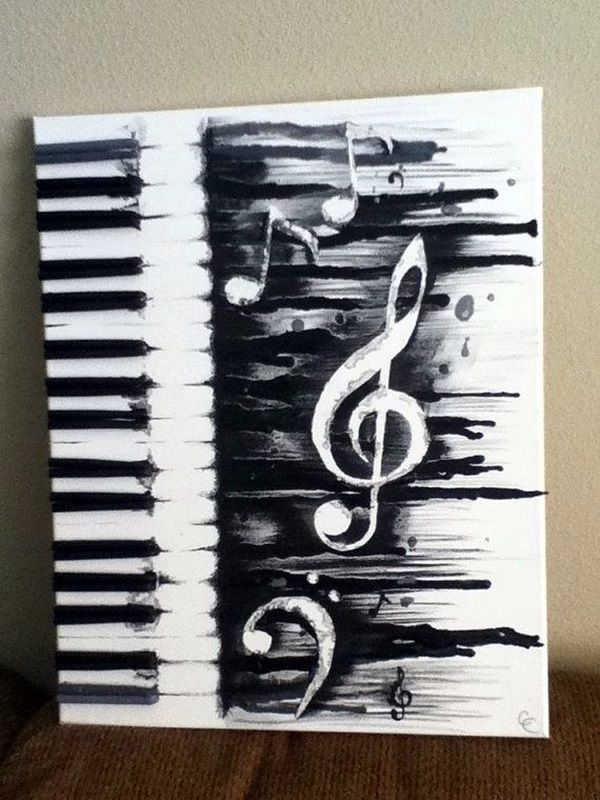 Drawn painting keyboard Painting Pinterest Canvas ideas canvas