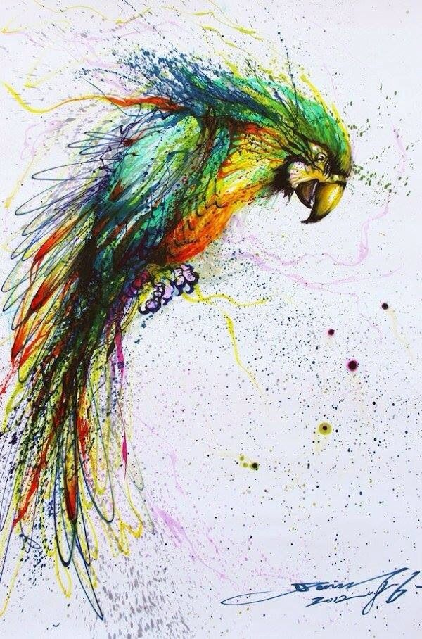 Drawn painting splatter #drawing #ink #painting #painting #pencil