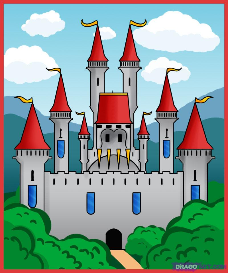 Drawn palace Draw Castle Places Castle to