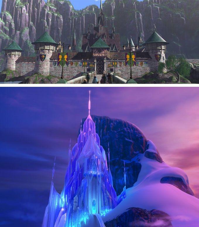 Drawn palace arendelle castle Castles Disney Pinterest castles Disney