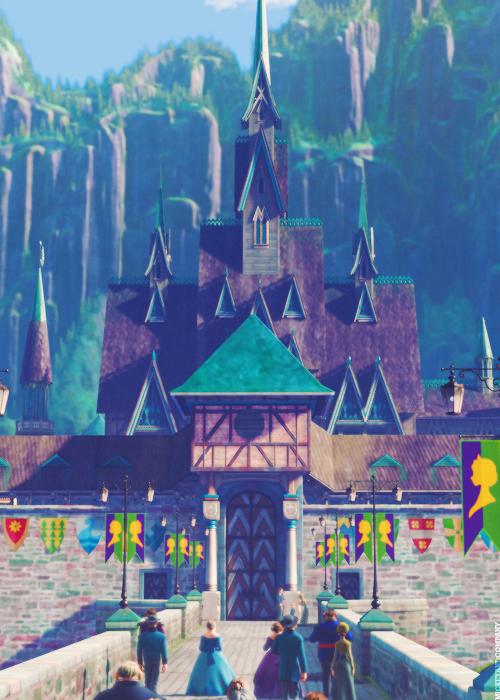 Drawn palace arendelle castle Castle castle I in: promise