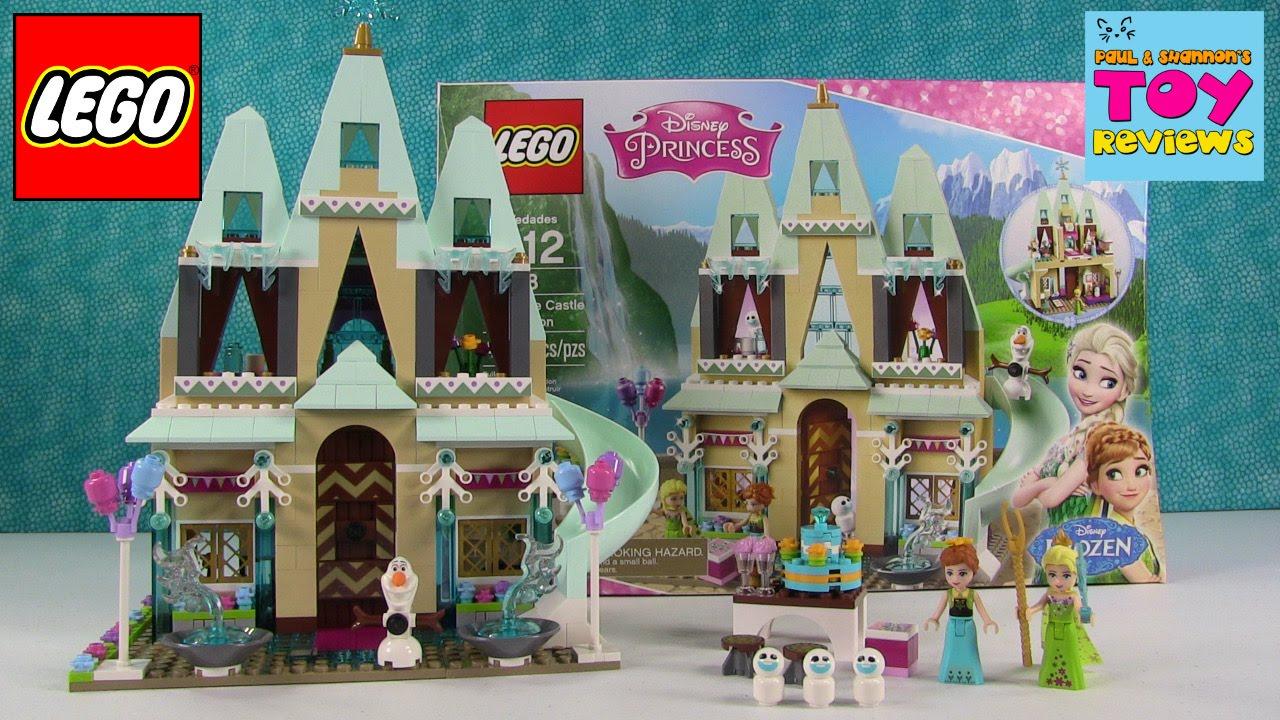 Drawn palace arendelle castle Unboxing Frozen Lego Castle YouTube