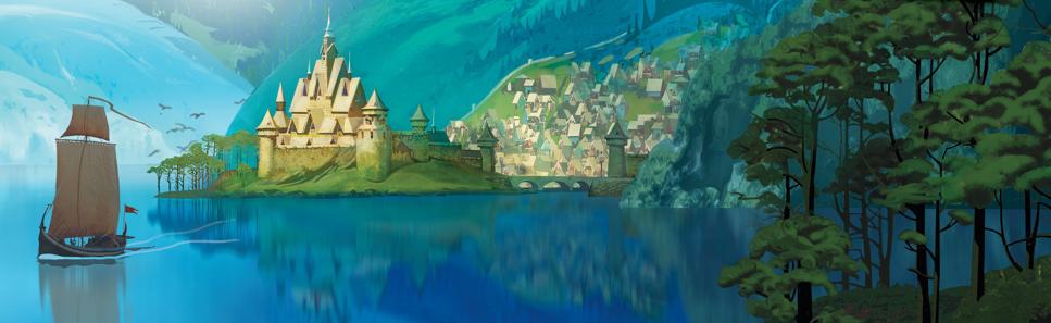 Drawn palace arendelle castle ❅ Arendelle  ❅ Kingdom