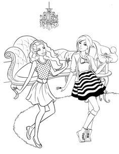 Drawn palace barbie Barbie Horse carriage coloring Tori's