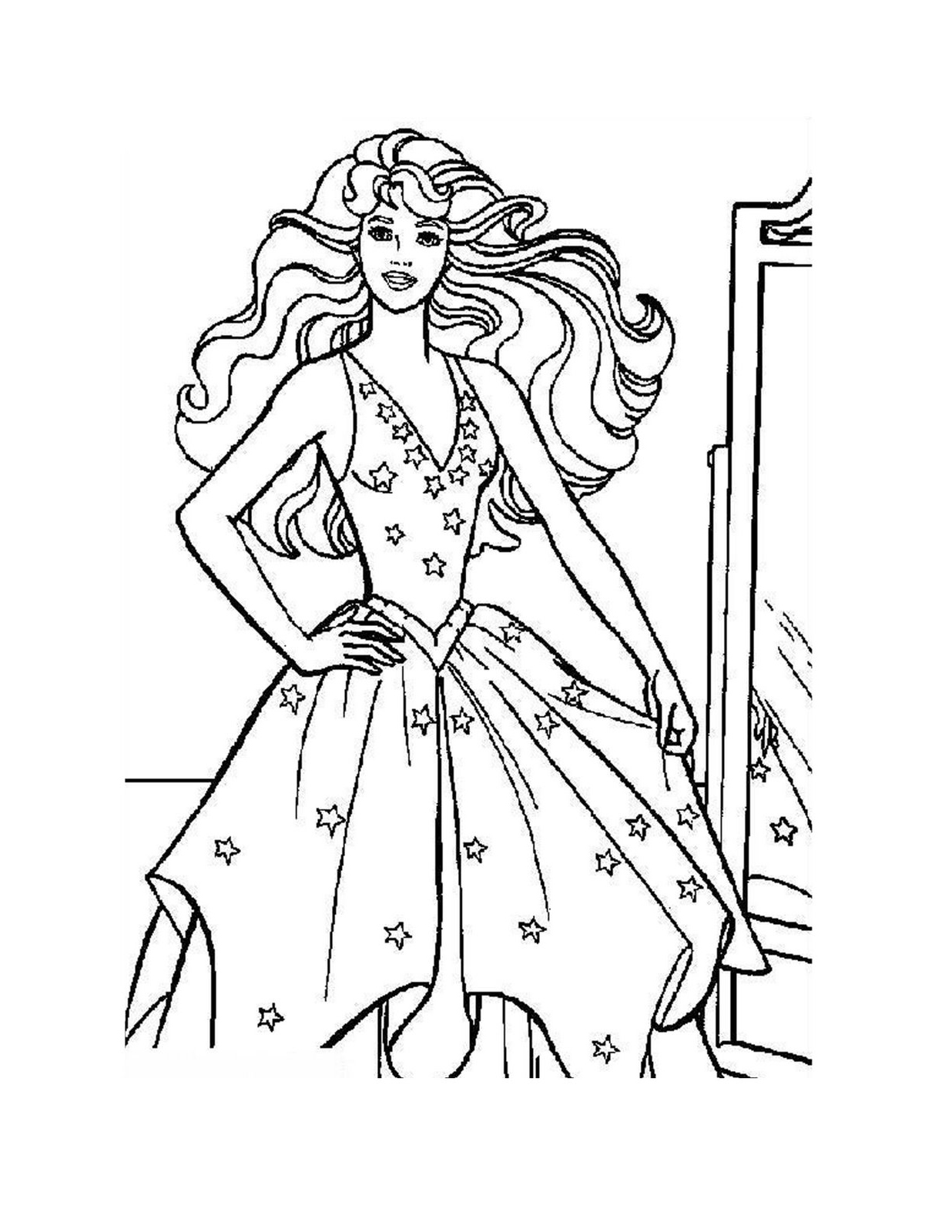 Drawn palace barbie Disney Princess Pages Coloring Disney