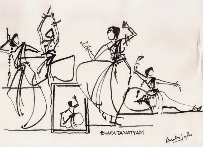 Drawn palace dancer India Dance is from another