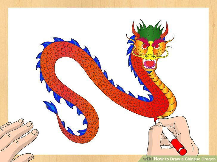 Drawn chinese dragon simple A Draw wikiHow (with Chinese