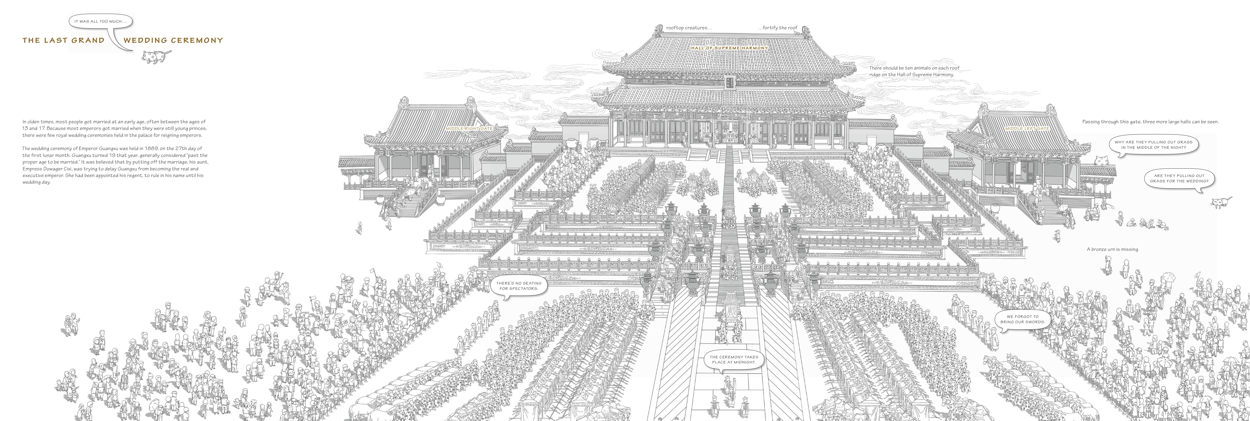 Drawn palace forbidden city In by ceremony wedding the