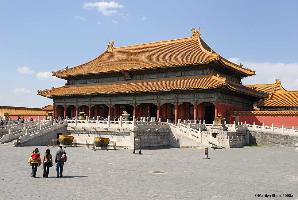 Drawn palace forbidden city Heavenly of Palace Purity Beijing