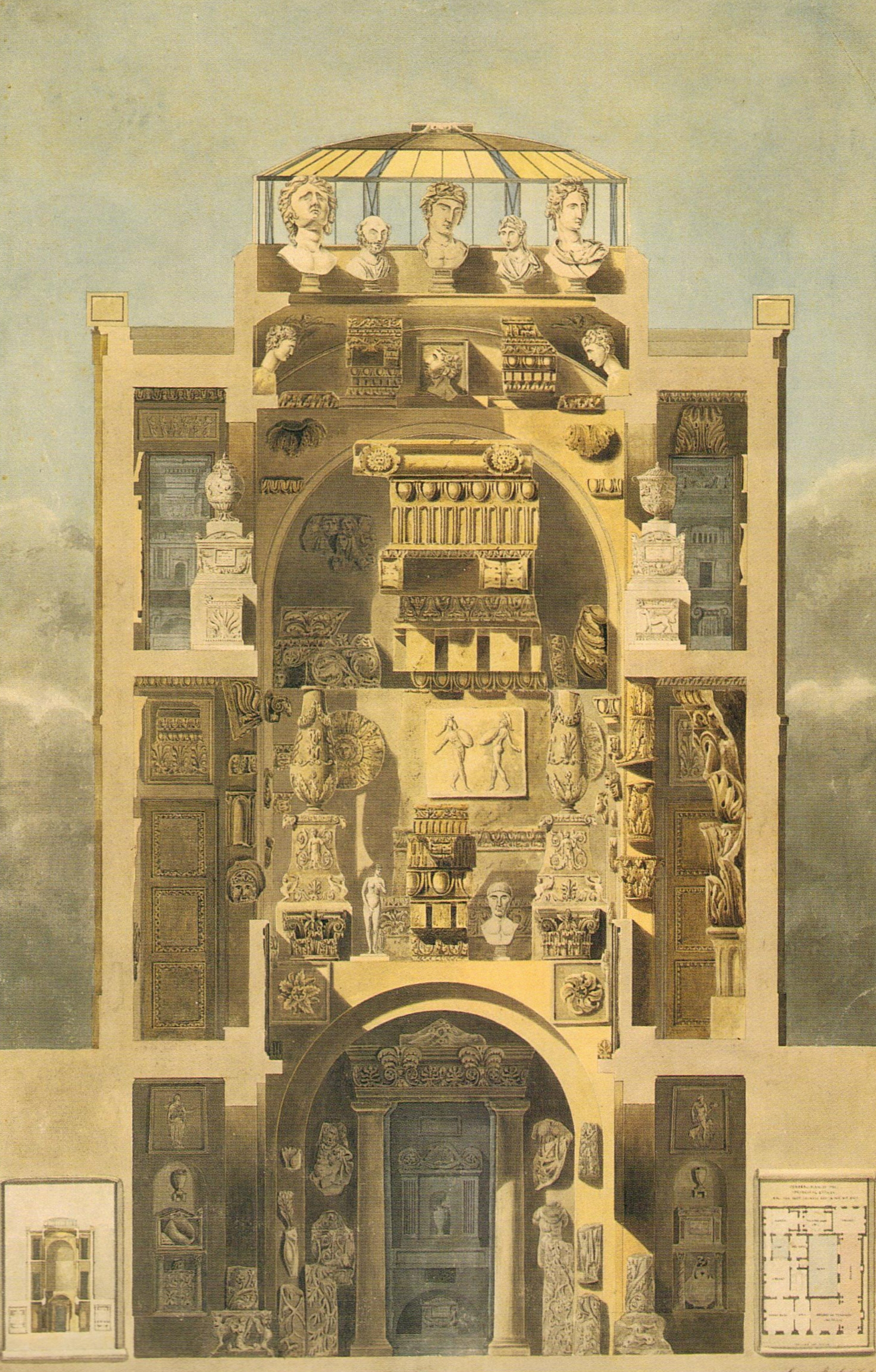 Drawn palace john soane Of Library Museum and Museum