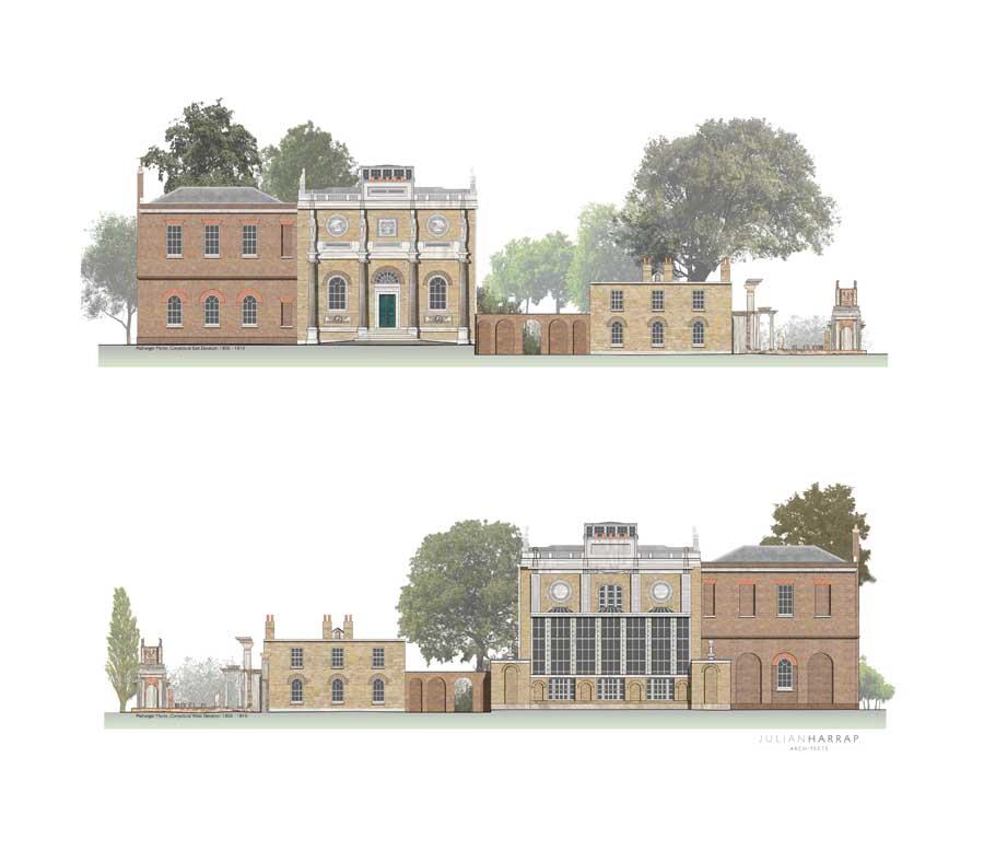Drawn palace john soane John and Summer Parks gardens…